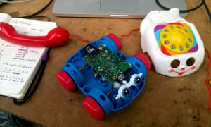 Raspberry Pi hidden in a toy telephone, sent by a reader.