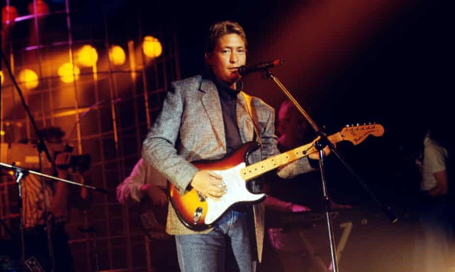 Chris Rea performing at Montreux jazz festival.