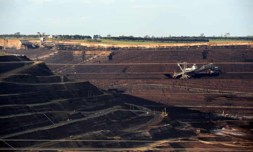 Loy Yang coalmine in the Latrobe Valley, Victoria, which supplies emissions-intensive brown coal to nearby power plants.