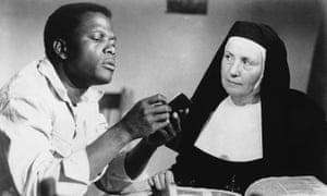 "Sidney Poitier and Lilia Skala, in ""Lilies of the Field."