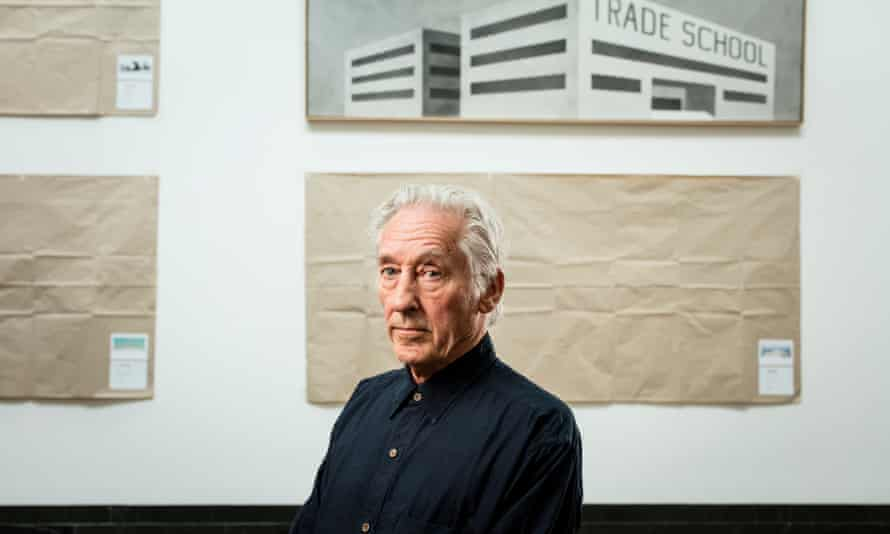 Ed Ruscha at the hang for his new exhibition, Course of Empire, at London's National Gallery.