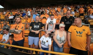 Wolverhampton Wanderers fans lap up the pre-match atmosphere in the safe standing area.