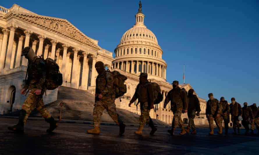 The Capitol building on Tuesday. Law enforcement departments in and near Washington were taking the threats seriously and planning for them.