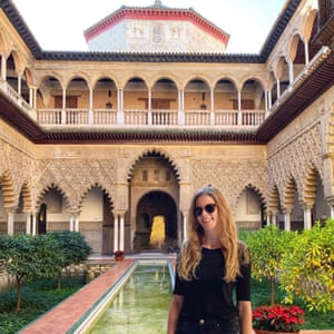 Kate Wills at Real Alcázar, Seville, Spain
