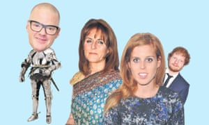 Currying favour: Sir Heston Blumenthal; Fergie,  Princess Bea and Ed Sheeran