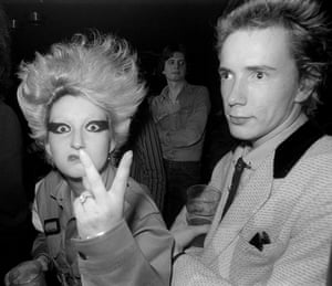 Jordan and Johnny Rotten of the Sex Pistols