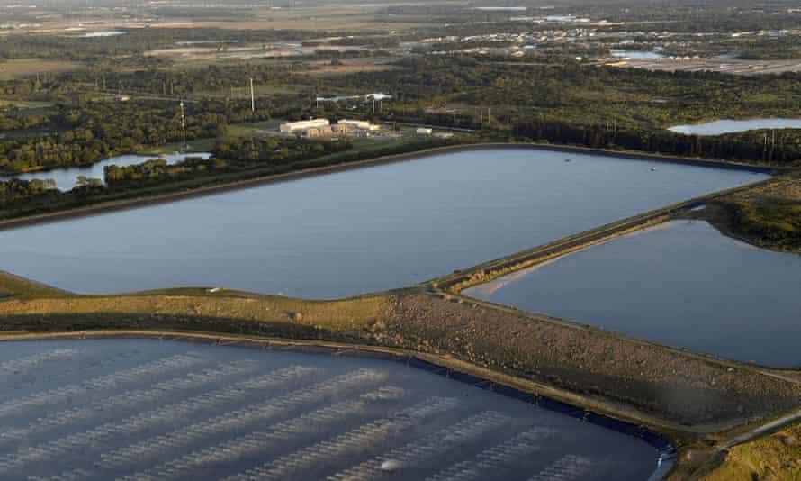 Reservoir near the old Piney Point phosphate mine in Bradenton, Florida.