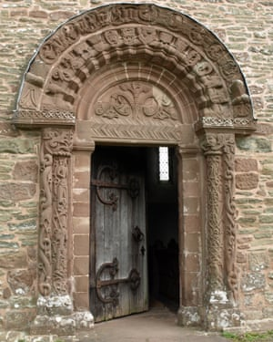 The entrance to Kilpeck church.