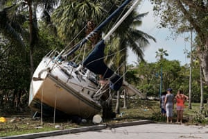 Wrecked boats in Coconut Grove