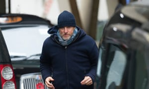 Woody Harrelson filming in the UK for his Lost in London movie.
