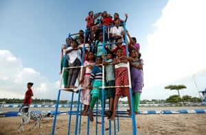 Nagapattinam, IndiaResidents of a children's care home in Tamil Nadu, set up by Karibeeran and Choodamani Parameswaran after they lost three children in the 2004 tsunami