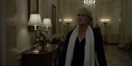 Robin Wright as Claire Underwood: dark enough?