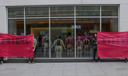#PharmaGreedKills protest by ACT-UP London on April 1st 2016