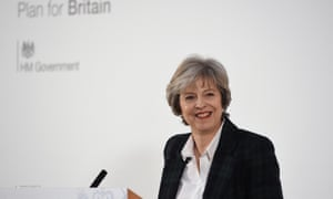 Theresa May delivers her 'Lancaster House speech' in January 2017.
