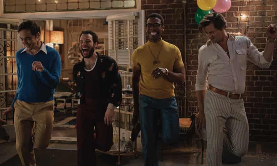 Let's dance … from left, Jim Parsons, Robin de Jesús, Michael Benjamin Washington and Andrew Rannells.
