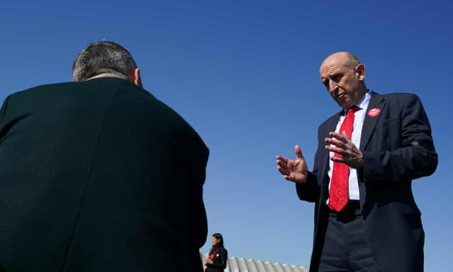 John Healey MP, the shadow defence minister, who edited the report, campaigning in Hartlepool ahead of the 6 May byelection.