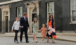 David Cameron and family leave Downing Street