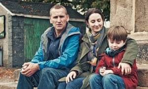 Maurice (Christopher Eccleston), Alison (Morven Christie) and Joe Hughes (Max Vento) in The A Word.