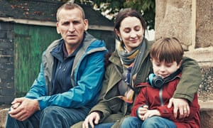Christie with Christopher Eccleston and Max Vento in The A Word, the acclaimed miniseries about autism.
