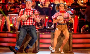 Ed Balls with his dance partner Katya Jones during a dress rehearsal for Strictly Come Dancing.