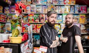 Gary and Alan Keery, identical twins who own and run the Cereal Killer Cafe in Brick Lane