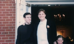 Garth Greenwell, right, in 1998 with his accompanist.