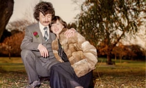 Christy Lefteri's mum and dad in a London park on their wedding day