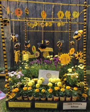 The Bee Kind Bee Happy Garden by Law Primary School, North Berwick