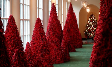 White House Christmas 2019 Seeing red: why Melania Trump's crimson Christmas trees are so