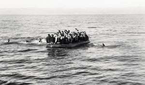 An image from The Journey: Lesbos to Berlin Sep–Dec 2015: refugees arrive at Lesbos.