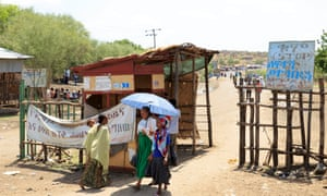 A checkpoint in Metema, next to the border with Sudan. The town is now a centre of a booming trade in migrants from Ethiopia, Eritrea, Somalia and Sudan.