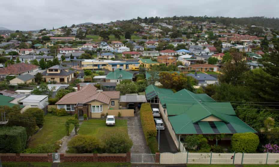 Housing in the Hobart suburb of Bellerive.
