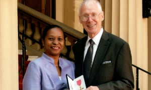 Dedicated worker: Richard Hyde, with his late wife Ana, after receiving is OBE in 2010.