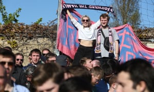 Dulwich Hamlet fans at Champion Hill for a game against Maidstone in 2015.