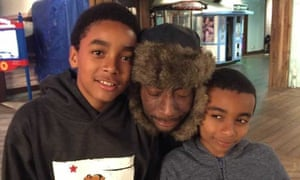 Dewayne Johnson and his two sons. Johnson has terminal cancer, which a court found was caused by Monsanto products.