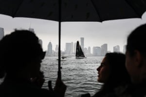 The sailboat carrying teenage climate activist Greta Thunberg arrives into New York City after crossing the Atlantic.