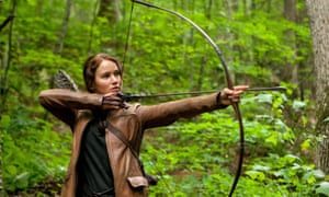 Take a bow … Jennifer Lawrence in The Hunger Games.