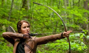On target … Jennifer Lawrence as Katniss Everdeen in The Hunger Games.