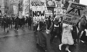 The 1971 march through London, which demanded equal rights and equal pay for women.
