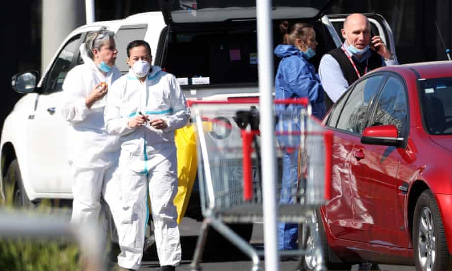 Police at the scene of the Auckland stabbings on Friday. Muslim leaders say the Islamic State-inspired attacker does not represent them.