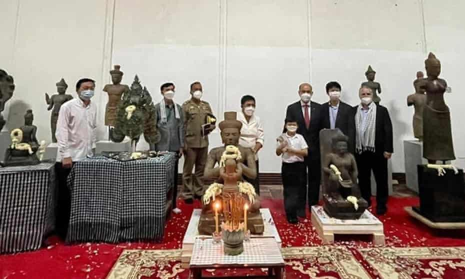 Sculptures which were returned by Julia Latchford and her family to the Cambodian government.
