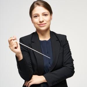 Conductor Dalia Stasevska (principal guest conductor of the BBCSO )