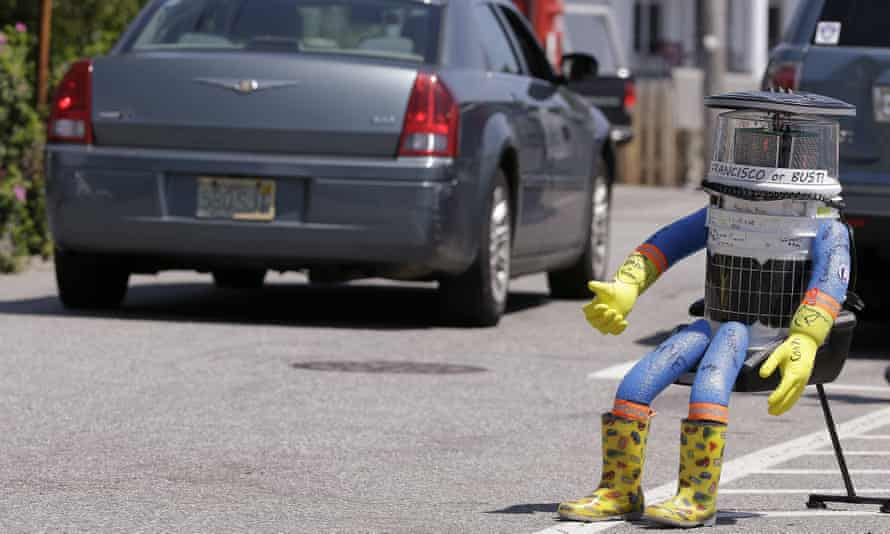 Hitchbot – a hitchhiking robot – was attacked by vandals while attempting to cross the US.