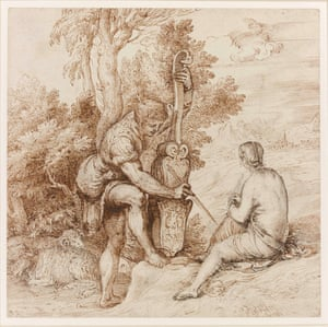 Titian: Two Arcadian Musicians in a Landscape