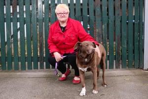 Amethyst DeWilde with her dog Mojo