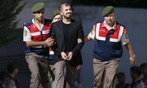 Abdülhamit Gül Erdem is led to prison
