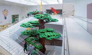 The colossal Lego tree in the Lego House.