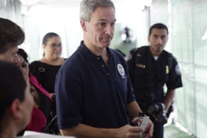 Ken Cuccinelli visits a Migration Protection Protocols Immigration Hearing Facility in Laredo, Texas in September.