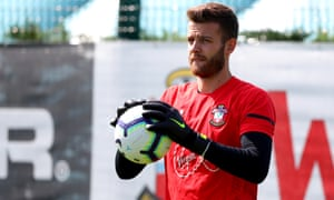 Angus Gunn is expected to take Alex McCarthy's place in the Southampton first team