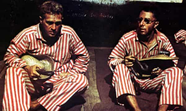 Steve McQueen and Dustin Hoffman in the original Papillon.